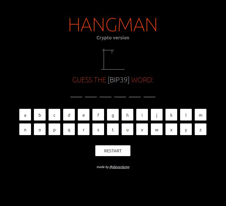 HANGMAN [crypto version]